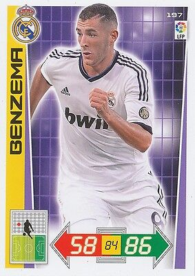 N°197 Benzema # France Real Madrid Card Panini Adrenalyn Liga 2013