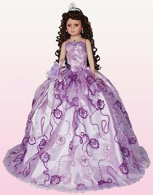 26 Inches  Quinceanera  Doll - 15 Doll - Spanish Doll - Lavender 1Pc (EQDoll-26#