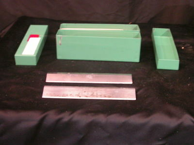 Lot of 2 Lipshaw  Microtome Knife Blade 185mm L x 31  mm H Green Box # 1