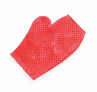 Rubber Grooming Mitt - Horse Grooming or Massage - Red or Green
