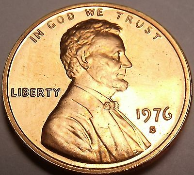United States Scarce 1976-S Proof Lincoln Cent~Bicentennial Cent~Free Shipping