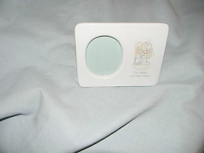 precious moments porcelain frame our marriage was made in heaven 1983
