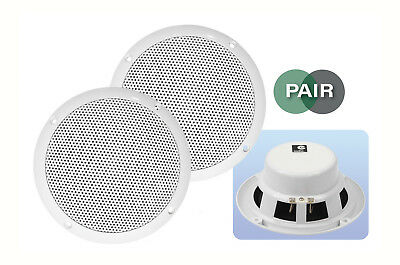 "2 x 5"" 80W 8 Ohm Dual Cone Moisture Resistant Ceiling Speakers Bathroom Kitchen"