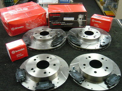 Honda Civic Type R Ep3 Brake Disc Brake Pad Brembo Drilled Grooved Front Rear