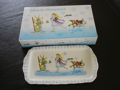 Alice in Wonderland Paul Cardew Retanglar Cookie Tray NEW