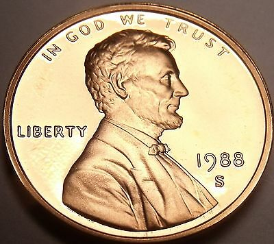 Scarce United States Proof 1988-S Lincoln Cent~Double Eights~Free Shipping
