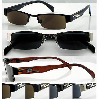 SL413 High Quality Men' Semi Rimless Reading Sunglasses/Metal Frame&Plastic Arms