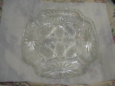 Early American Prescut EAPC Deviled Egg Relish Plate
