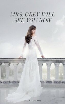 "FIFTY SHADES FREED 2018 Advance Teaser Ver A DS 2 Sided 27x40"" US Movie Poster"