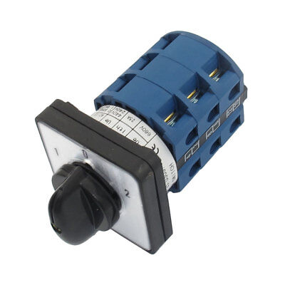 660V 25A 12 Screw Terminals 3 Positions Rotary Cam Changeover Switch