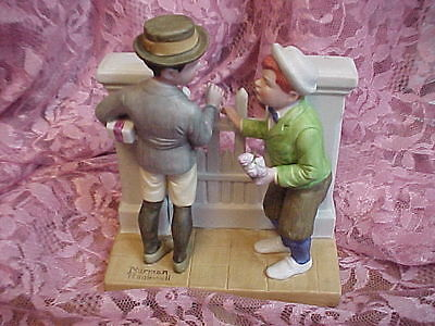 "Norman Rockwell ""the Rivals"" 1980 Danbury Mint Figurine"