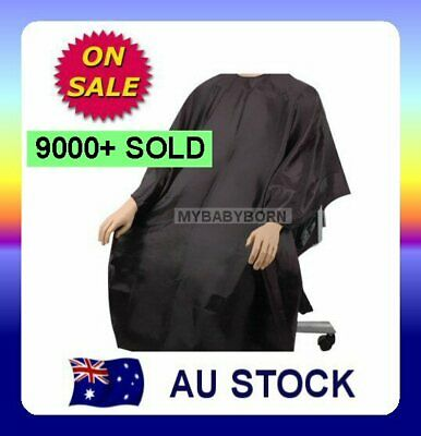 Black Hair Cutting Cape Pro Salon Barber Hairdressing Gown AU Seller