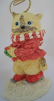Vintage Heritage Mint Holiday Collection Christmas Ornament - Samantha Cat