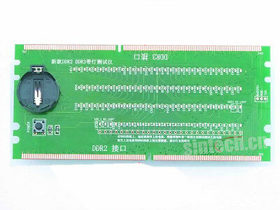 Sintech PC Desktop Mainboard Board DDR 2/DDR 3 RAM Memory Slot tester card
