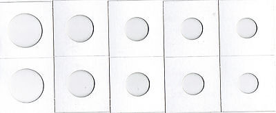 *50 ASSORTED SIZE 2X2 CARDBOARD/MYLAR COIN HOLDERS FLIPS* YOU PICK * NEW *Jn10 *