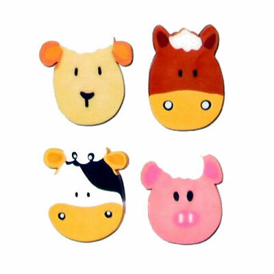 6 Farm Animal Erasers - Pinata Toy Loot/Party Bag Fillers Rubbers Kids