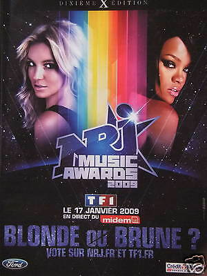 Publicité Radio Nrj Music Awards 2009 Blonde Ou Brune Vote