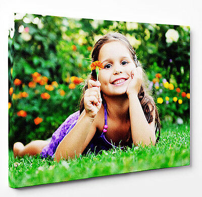Photo On Canvas Your Personalised Picture Prints Any Size - Framed Ready To Hang
