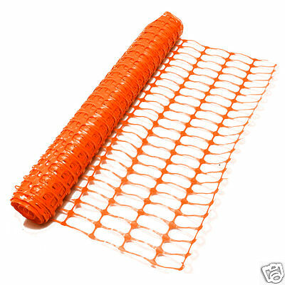 Orange Plastic Mesh Barrier Safety Event Fence Netting 80gsm - 1m high x 15m