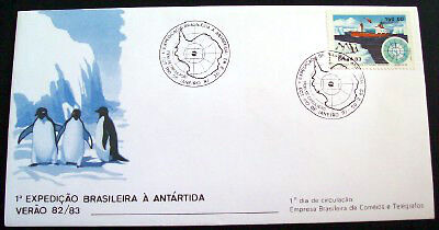 Brazil 1983 Antarctic expedition cover with Antarctic cancel.