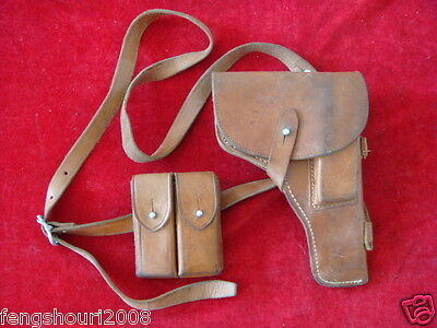 OLD ORIGINAL CHINESE MILITARY 54*TYPES TOKAREV LEATHER HOLSTER