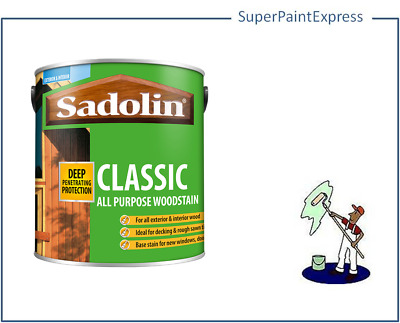 Sadolin Classic Woodstain 2.5 litre.  All colours available. Brand new stock.