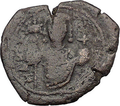 Manuel I , Comnenus  1143AD Rare Ancient Byzantine Authentic Coin Cross  i32108