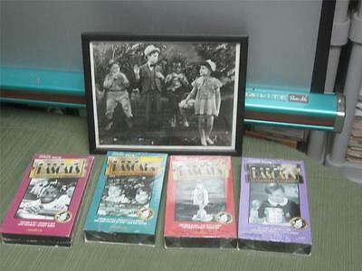 Our Gang Little Rascals one 8x10 bxw photograph & 4 new VHS Volumes