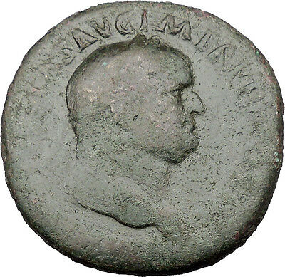 Vespasian 71AD HUGE Sestertius Ancient Roman Coin PAX Eirene Peace i32130