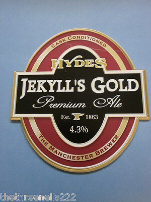 Beer Pump Clip - Hydes Jekyll's Gold Premium Ale