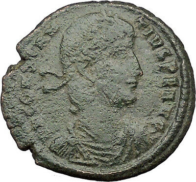 CONSTANTIUS II Constantine the Great  son Roman Coin Christ monog Labarum i32157