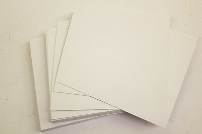 """50 SQUARE WHITE SHEETS / BLANK CARDS 6"""" x 6"""" 250gsm Everyday Craft Card Stock"""