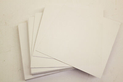"""100 SQUARE WHITE SHEETS / BLANK CARDS 6"""" x 6"""" 250gsm Everyday Craft Card Stock"""
