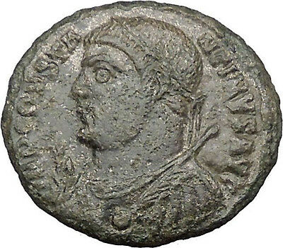 Constantine I The Great 317AD Ancient Roman Coin Jupiter w Victory Nike  i32204