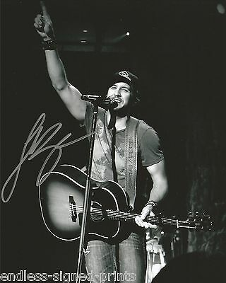 Luke Bryan country hunk reprint signed concert photo #2 RP