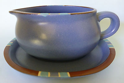Dansk Mesa Blue 1 Gravy Boat With Underplate Sauce Portugal Nice