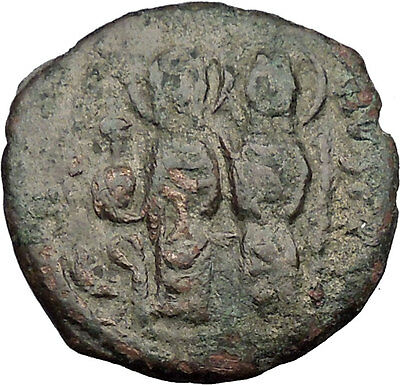 Justin II & Queen Sophia 565 AD  Ancient Medieval Byzantine Coin Big K  i32639