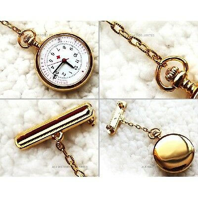ALK Nurses Fob Watch with Date White Face *FREE POST* Aussie Stock