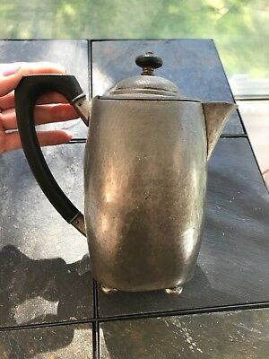 Antique Pewter Coffee Pot with Maker's Name Liberty & CO.
