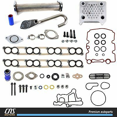 Upgraded High Flow Oil Cooler Kit & EGR Delete Kit w/ Gaskets 03-10 Ford 6.0L V8