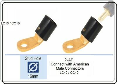 2AF 45 Deg Angle Female Terminal Connector Fits 2-MPC  LC40 Male Ends Pack of 2