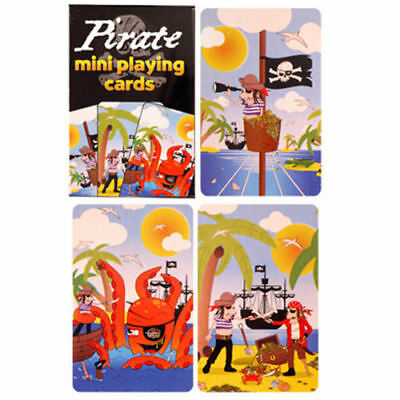 6 Pirate Playing Card Sets - Small Mini Loot/Party Bag Fillers Wedding