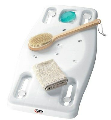 Portable Bath Bench Shower Safety Seat Tray B217 Carex Tub Shelf Transfer Board