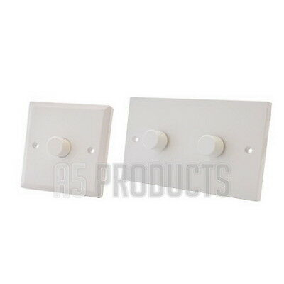 1000w 1G Dimmer Plastic White 1 Gang 2 Way Push On//Off Quality Switch Dim Switch