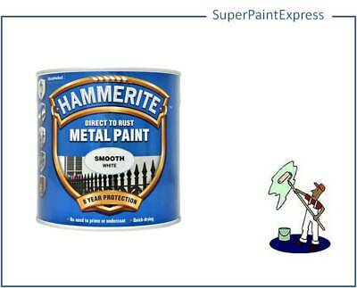 Hammerite Smooth Metal Paint 2.5 Litre  All Colours Available COLOUR