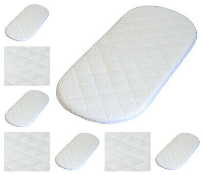 Baby Crib / Moses Basket Round Corner Bed Foam MATTRESS Quilted Breathable Cover