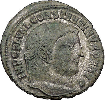 Constantine I The Great 313AD Ancient Roman Coin Jupiter w Victory Nike  i32414