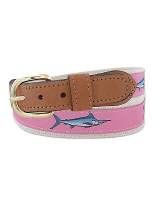 Zep-Pro Zep Pro Embroidered Leather Canvas Belt Redfish Red Fish select size