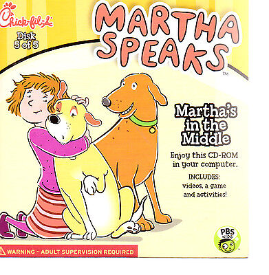 Chick Fil A Martha Speaks CD-ROM  NIP Kids Meal Martha in the Middle  CD Disk 5
