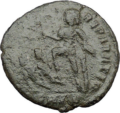 CONSTANTIUS II Constantine the Great son w labarum AE2 Ancient Roman Coin i32447